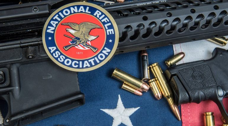 NRA logo rifle