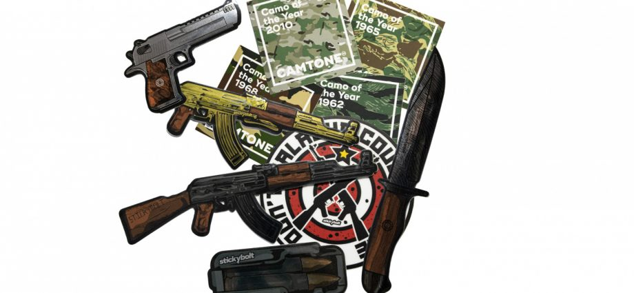 StickyBolt Just Launched their fourth new Gun Themed Sticker Pack