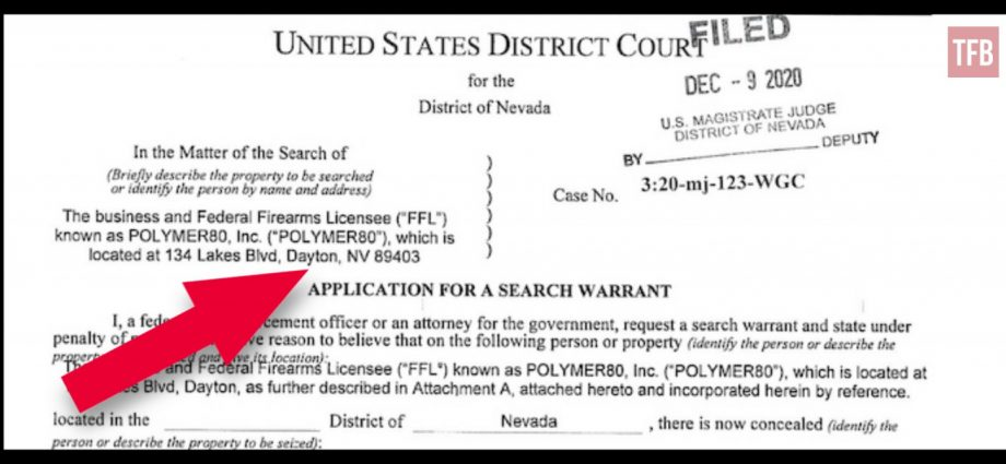 Polymer80 Warrant - Handguns, Customer Records, Prohibited Persons