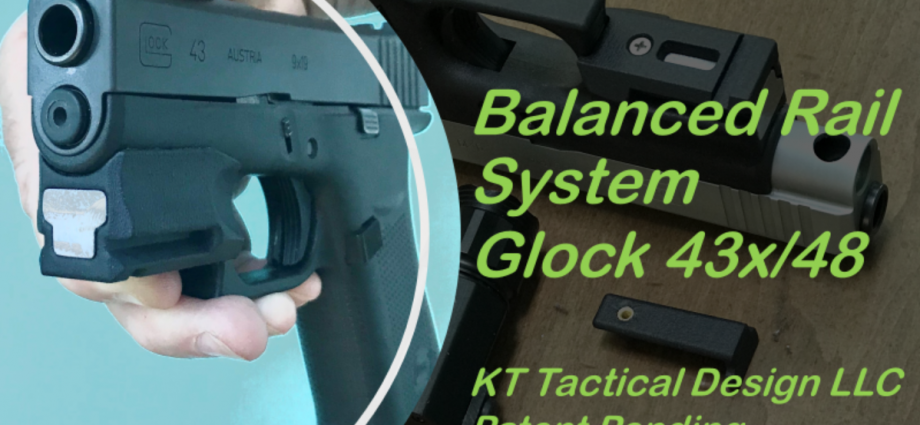 The Balanced Rail System for the Glock 43X/48 from KT Tactical Design