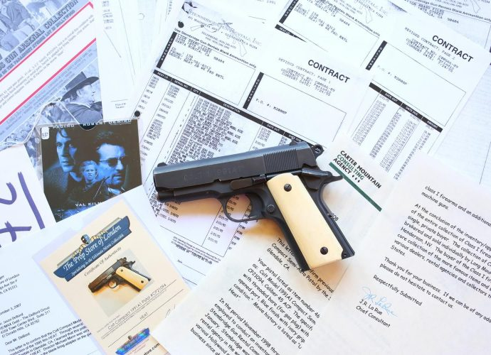 """The Colt 1911A1 used by Al Pacino's Lt. Vincent Hanna in the movie """"Heat"""" is up for sale."""